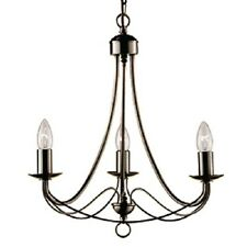 SEARCHLIGHT MAYPOLE 3-LIGHT CEILING LIGHT IN ANTIQUE BRASS FINISH 6343-3AB
