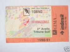 TORINO - INTER BIGLIETTO TICKET 1990 / 91