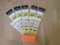 Sabiki Live Bait Jigs Kit - 10 packs 2 sizes with Jig Saver
