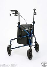 Flame Ultra Lightweight Aluminium Tri Walker - Walking Aid - Mobility Aid - Blue