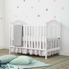 Convertible Baby Crib to Daybed Nursery Sleeping 2-in-1 Bed Modern Sturdy, White