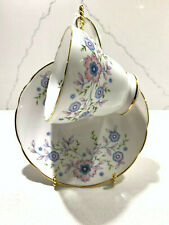 """Avon Tea Cup and Saucer - """"Blue Blossoms"""" Made in England 1974 - Fine Bone China"""