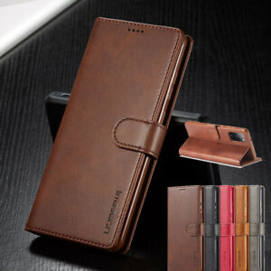 For Samsung S20 FE Note20 Ultra S9 S10 Plus Case Wallet Soft Leather Cards Cover