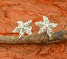 Star Fish Stud Earrings-Sterling Silver-Ocean,Summer,Beach,Cute,Small,Gift,Girls