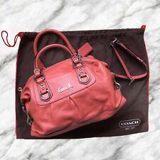 COACH Ashley Satchel 2 Way Bag Handbag Burnt Orange Silver Dustbag Preppy