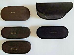 """""""Tom Ford"""" Full Size Sun / Eye Glasses Hard Cases Brown / Black"""