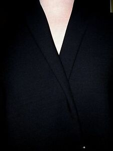 5yds BLACK FRENCH TRICOTINE WOOL FABRIC MEN OR WOMENS CLASSIC ELEGANT SUIT
