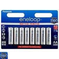 8 x Panasonic Eneloop AA batteries 1900mAh Rechargeable Ni-MH Accu LR6 BK-3MCCE