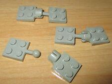Lego City - Anhängerkupplungen - 3 Paar  2x2 u. 2x2 in alt hell grau