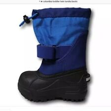 COLUMBIA TODDLER TWIN TUNDRA BOYS SNOW BOOTS WATERPROOF SIZE 6 BLUE