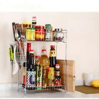 2 Storey Bathroom Countertop Organizer Kitchen Spice Rack Counter Storage Shelf