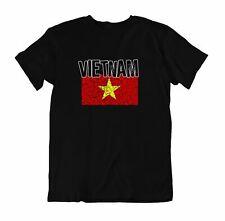 Flag T-Shirt Vietnam Fashion Country Souvenir Gift Tee Pride logo