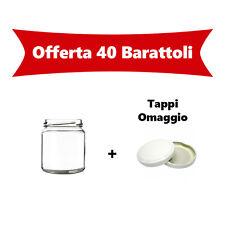 N°40 Vasetti in vetro 106ml con capsula per confetture-marmellate-conserve-pesto
