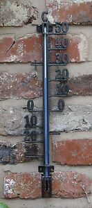 Garden Thermometer Metal Filigree Garden Wall decorative  skeleton Outdoor