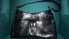 Liz Claiborne Black Croc Handbag Excellent Condition  Bargain Priced