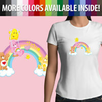 Care Bears Rainbow Friends Kawaii Classic Cartoon Girls Juniors Tee T-Shirt Top