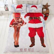 SELFIE SANTA CHRISTMAS PHOTOGRAPHIC PRINT DOUBLE DUVET COVER SET ADULTS