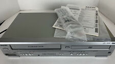 Sanyo DVW-7100A DVD 4 Head VCR Combo Player VHS Recorder w/ Manual Remote TESTED