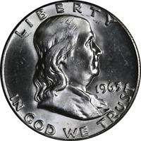 1963-P Franklin Half Dollar Nice BU- STOCK