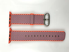 Original Apple Watch Series 5 4 3 Woven NYLON Band 38MM 40MM Spicy Orange check