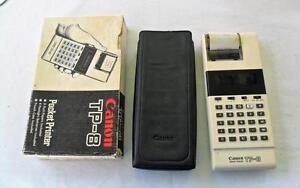 VTG Canon TP-8 Pocket Printer Electronic Calculator works w/box,case