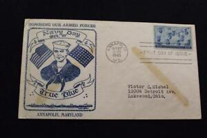 PATRIOTIC COVER 1945 1ST DAY ISSUE NAVY DAY HONORING THE ARMED FORCES (5548)