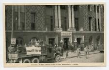 SHANGHAI CHINA American Red Cross City Club Truck Vintage 1940s Postcard