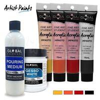 POUR PAINTING SET - Lava Fire | Acrylic Impasto Paint | Pouring Starter Set