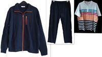 Neuf Grandes 3 Pièces Hommes Sweat Leisure Suit Veste Pantalon Chemise Gr.58,