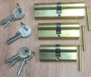 1 x Euro Door Cylinder Barrel Lock UPVC Aluminium Wood Doors 80mm, Keyed Alike