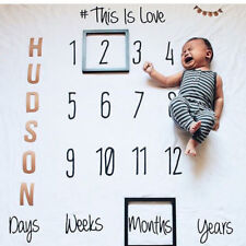 Cute Baby Monthly Growth Milestone Blanket Letter Prop Photography Background #J