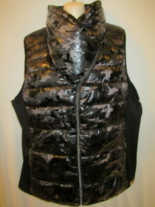 Calvin Klein Water Repel Quick Dry POLYFILL FUNNEL NECK VEST Black 1X  New
