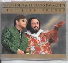 MAXI CD 4 TITRES--ELTON JOHN & LUCIANO PAVAROTTI--LIVE LIKE HORSES--1996