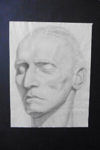 FRENCH SCHOOL 1881 - PORTRAIT OF A MAN -  SPECIAL CHARCOAL DRAWING