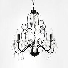 lux.pro® Cristal lustre noir Plafonnier lumière