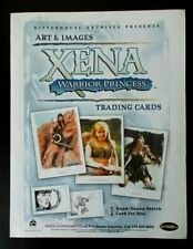 Xena Warrior Princess Art & and Images trading cards dealers promo sell sheet