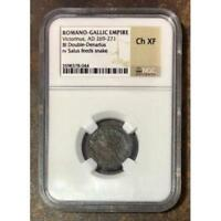 Romano Gallic Empire Victorinus, AD 269-271 NGC Ch XF ***Rev. Tye's*** #804488