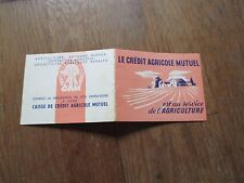CALENDRIER CREDIT AGRICOLE MUTUEL 1954