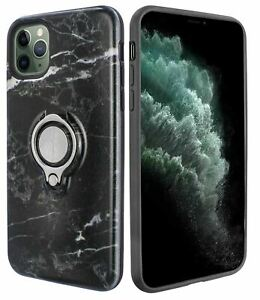 Marble Grip Ring Case for iPhone 11 Pro Max (6.5 Inch) with Kickstand