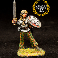 ⭐️Foundry Fantasy Wargames Female Viking Shield Maiden Painted D&D Hero Figure