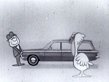 """16mm 1961 CHEVY """"CORVAIR"""" ANIMATED TV AD - 10 SECONDS"""