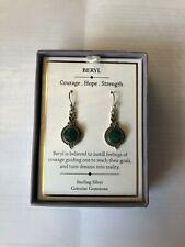 Shivam Women's Sterling Silver Beryl Earrings New with Box