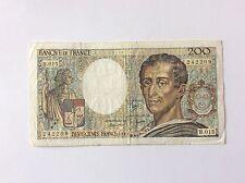Billet français de 200 F Montesquieu 1983 B015 TTB voir photo