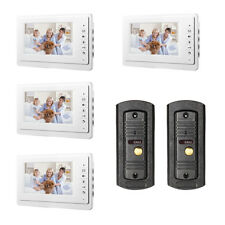 Wired Video Intercom Door Phone Audio Visual Doorbell Entry System For Villa 2V4