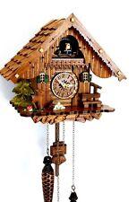 Orologio a cucù tetto a tegole Foresta Nera al quarzo in legno