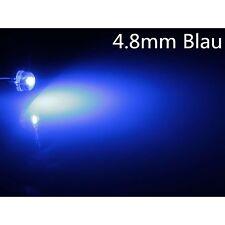 1000X.a0304 blau blue 4,8mm LEDs  Superhelle 3LM 4.8mm StrawHat 120° LEDs