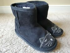 The Children's Place Toddler Girl's Black Short Cat Boots, Size 9T