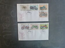 1985 BURKINA FASO (WEST AFRICA) CLASSIC MOTORCYCLE SET 7 STAMPS FIRST DAY COVERS