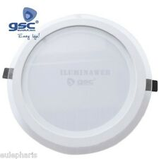 DOWNLIGHT PLANO LED 22W Luz Blanca 6000k 4200k Aro Cristal + BLANCO Empotrable
