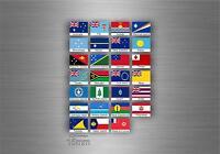 Planche autocollant sticker drapeau pays rangement classement oceanie txt timbre
